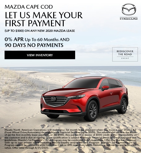 Mazda Cape Cod Let Us Make Your First Payment