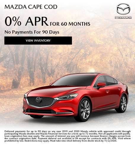 Mazda Cape Cod 0% APR For 60 Months