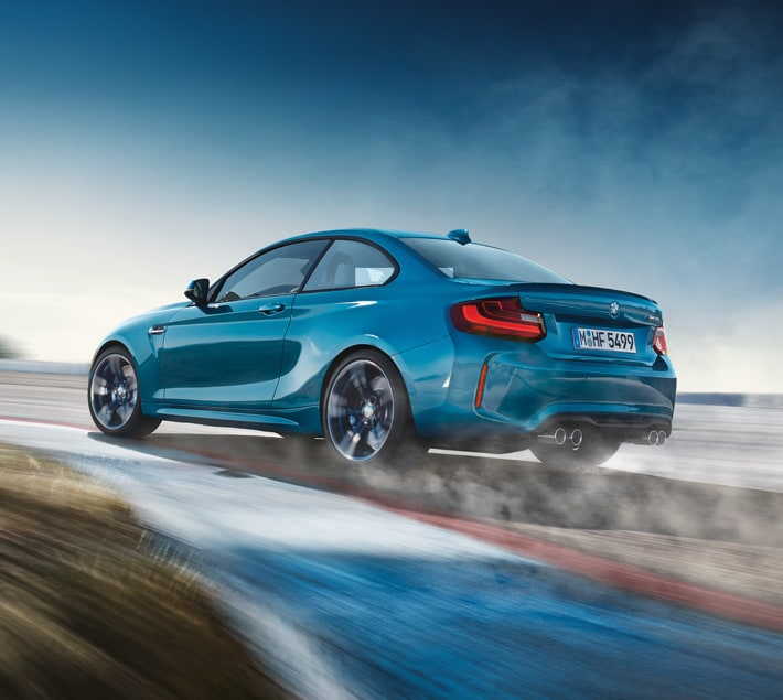 BMW M2 Coupe Taking Laps On A Track