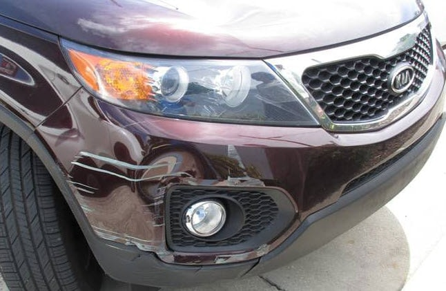 Bumper Damage requiring Kia Bumper Replacement
