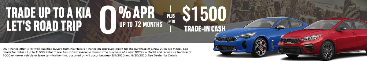 0% APR financing up to 72 months plus up to $1,500 Trade up Cash