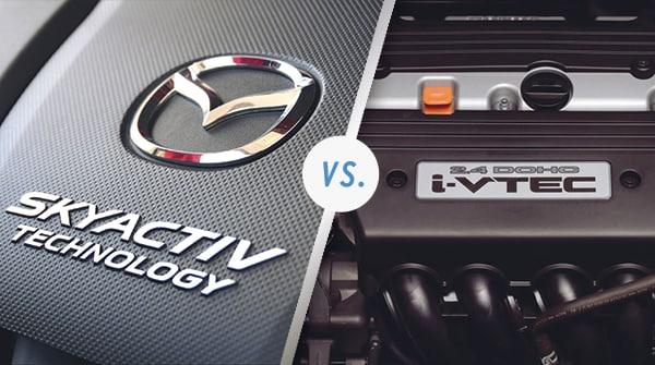 Comparison: Mazda SKYACTIV® vs Honda VTEC