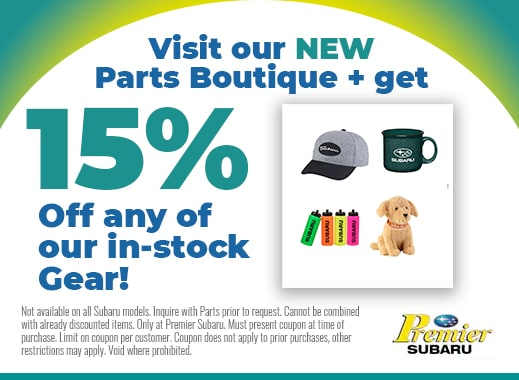 visit our parts boutique and get 15% of in stock gear