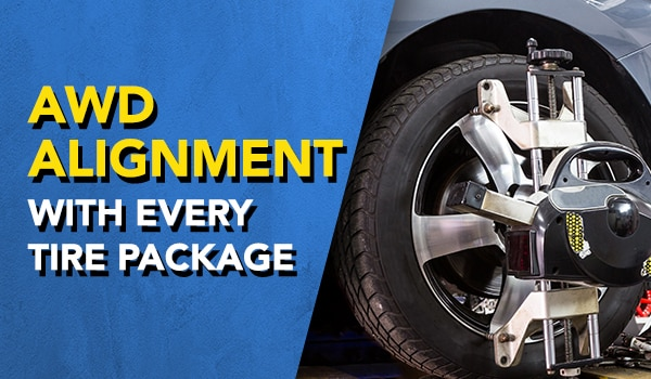 all wheel drive alignment with every tire package