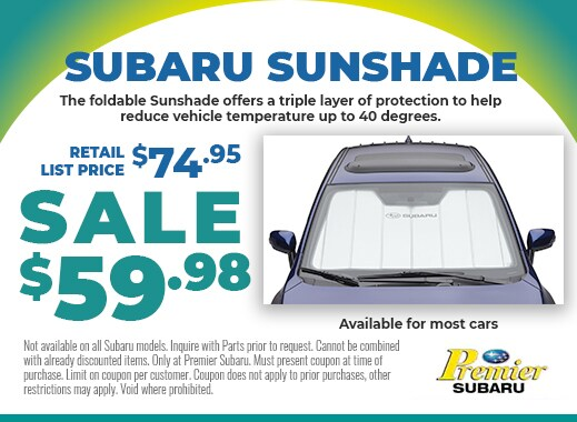 Subaru Sunshades on sale for $59.88