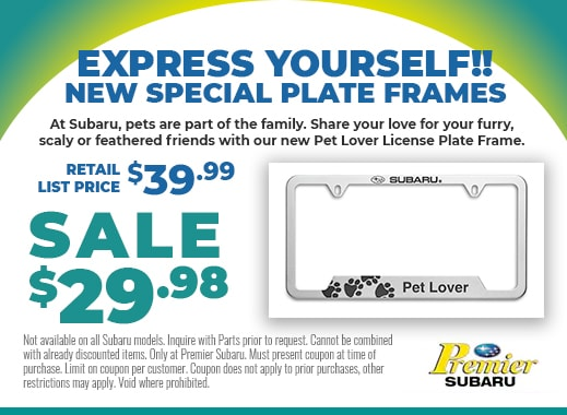 New special plate frames on sale for only $29.99