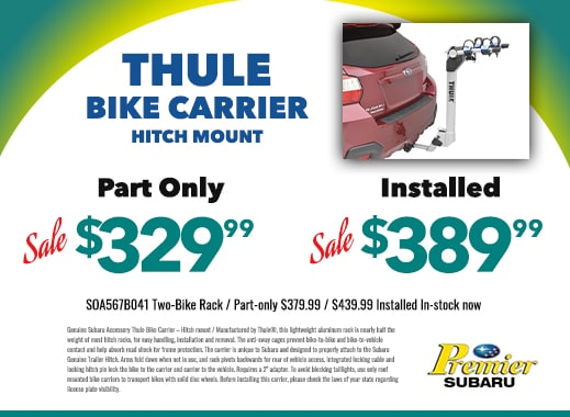 Thule bike carrier hitch mount $329.99 part only $389.99 installed