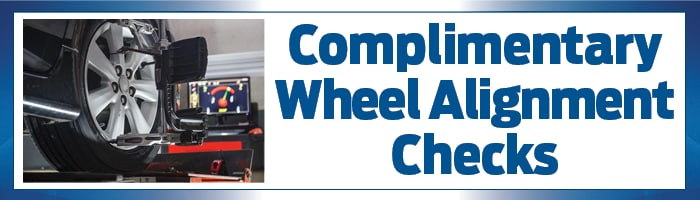 complimentary wheel alignment checks