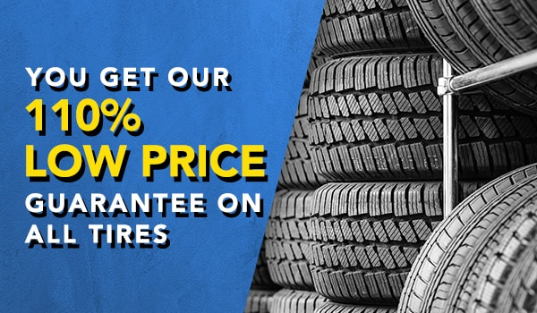 100 percent low price guarantee on tires