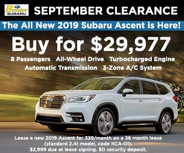 2019 Subaru Ascent Ct Subaru Dealer Premier Subaru Watertown Premier Subaru Watertown