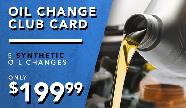 Club card 6 Synthetic oil changes for $199