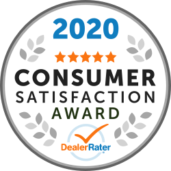2020 DealerRater Consumer Satisfaction Award winner logo