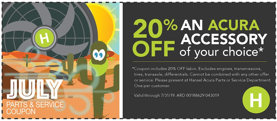 20% Off an Acura Accessory of your choice