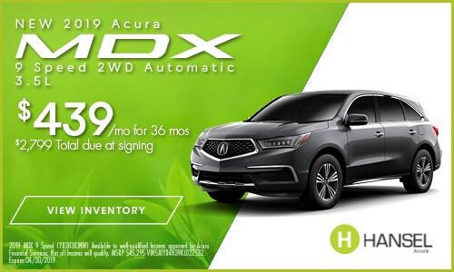 New 2019 Acura MDX