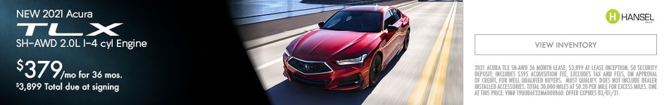 NEW 2021 Acura TLX SH-AWD 2.0L I-4 cyl Engine