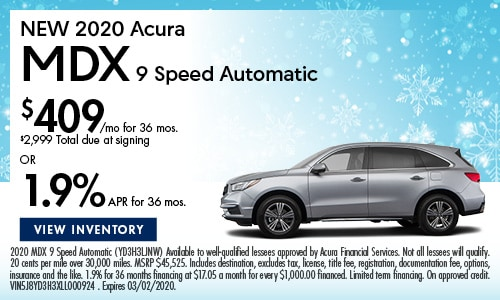NEW 2020 Acura MDX 9 Speed Automatic
