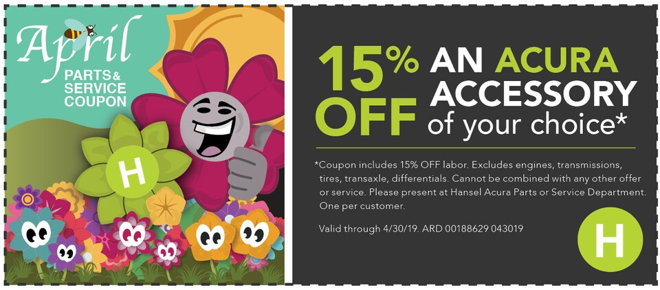 15% Off an Acura Acessory of Your Choice