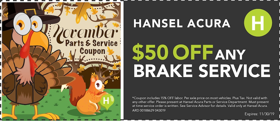 $50 Off any Brake Service