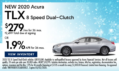 NEW 2020 Acura TLX 8 Speed Dual-Clutch