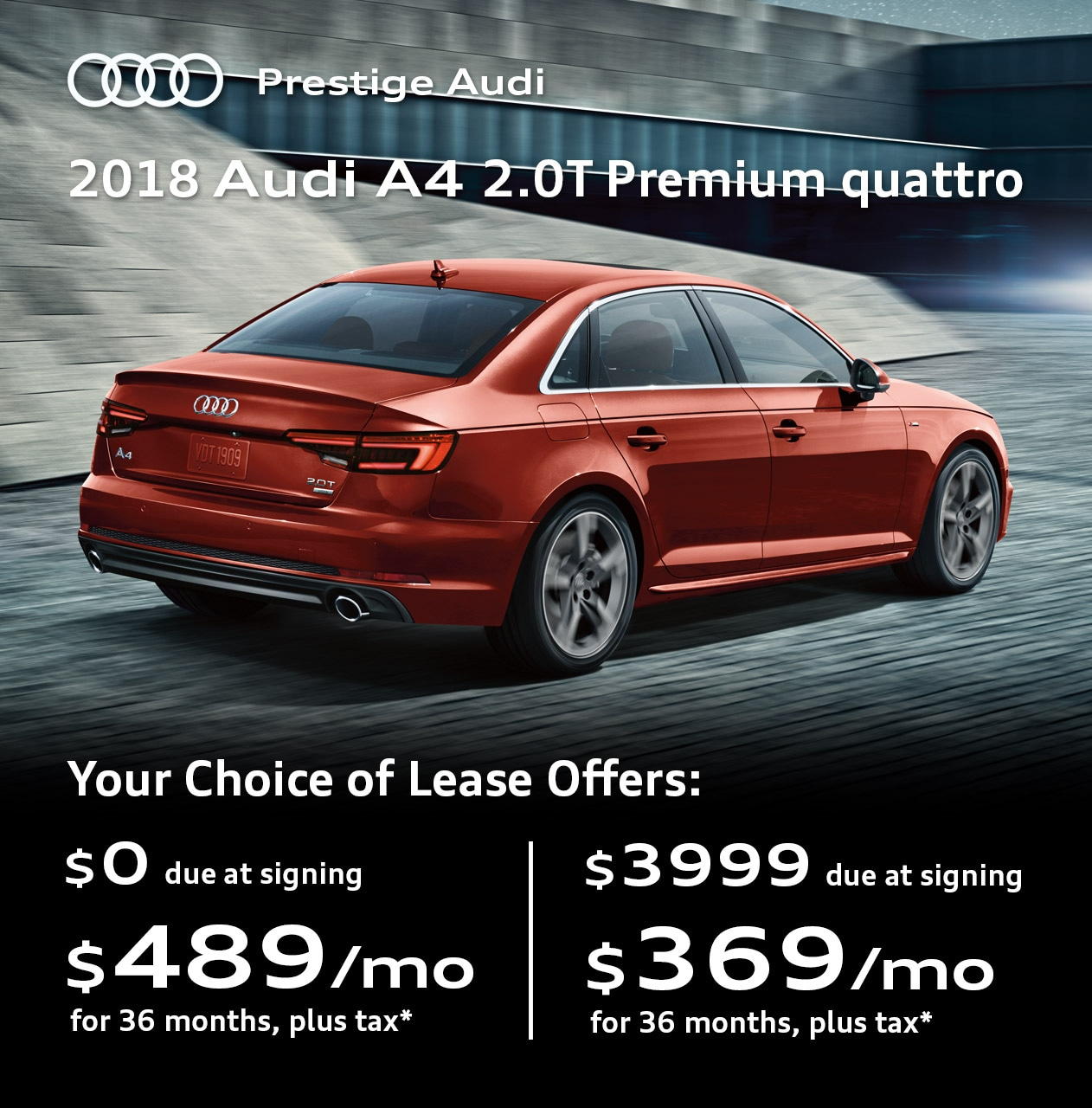 Audi Specials Lease Deals Offers At Prestige Audi Near Denver Co - Audi leases
