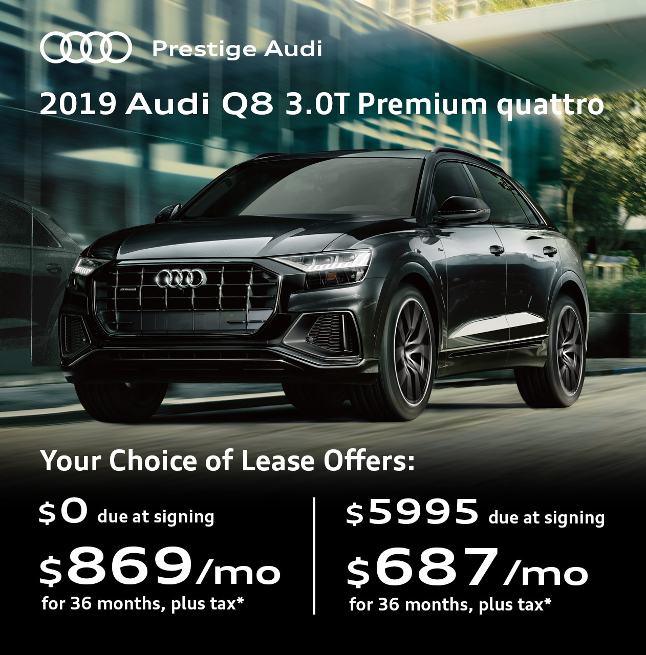 Lease Deals & Offers At Prestige Audi Near