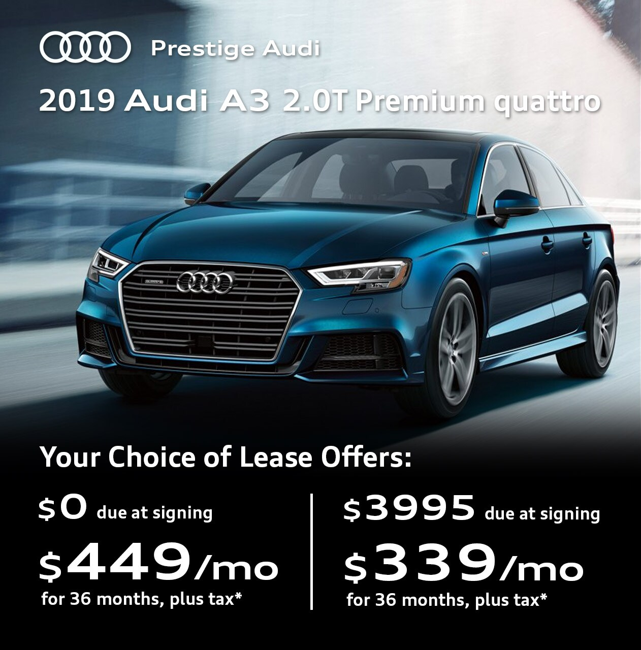 audi specials - lease deals & offers at prestige audi near denver co