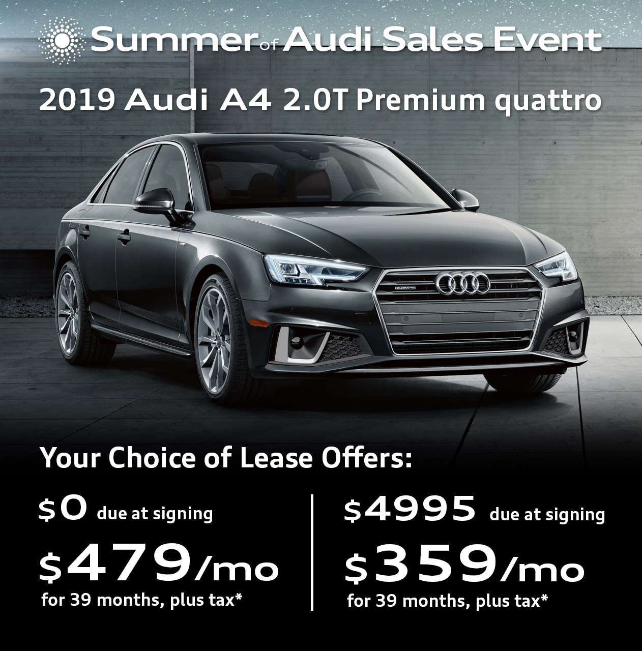 Audi Lease Deals >> New Audi Vehicle Specials Offers Audi Car Deals Denver Co