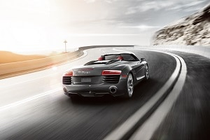 2018 Audi R8 Spyder in Manhattan Gray
