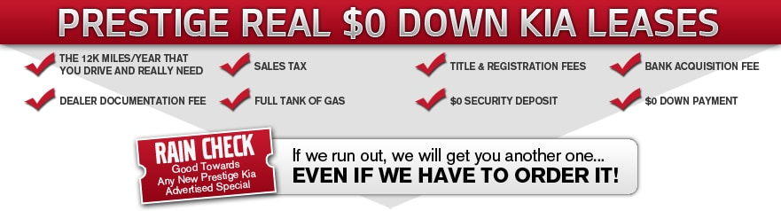 0 Down Lease >> About The Real 0 Down Lease From Prestige Kia Of Tenafly Nj Serving