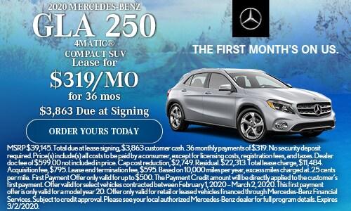 2020 Mercedes-Benz GLA 250  4MATIC® Compact SUV