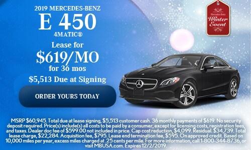 2019 Mercedes-Benz E 450 4MATIC®