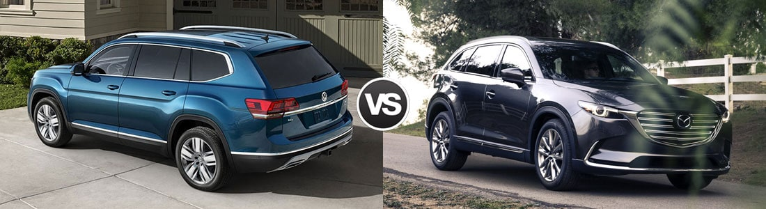 2018 Volkswagen Atlas vs 2018 2017 Mazda CX-9