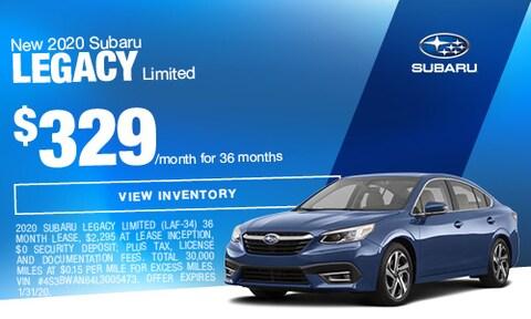 New 2020 Subaru Legacy Limited