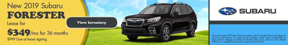 August 2019 Forester Lease Special