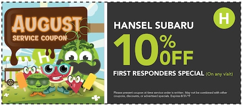 10% Off First Responders Special