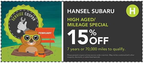 15% Off High Aged/Mileage Special