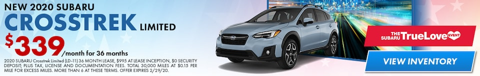 New 2020 Subaru Crosstrek Limited