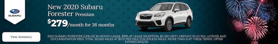 New 2020 Subaru Forester Premium