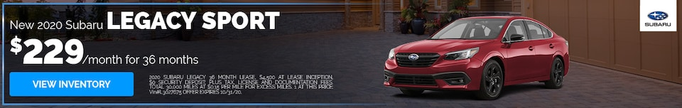 New 2020 Subaru Legacy Sport