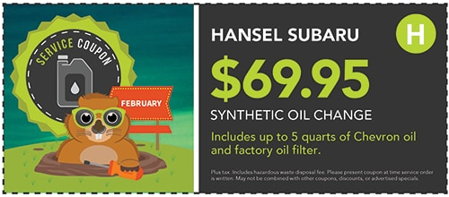 $69.96 Synthetic Oil Change