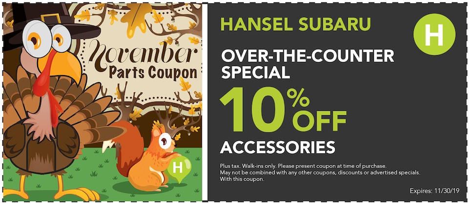 Over the Counter Special 10% Off Accessories
