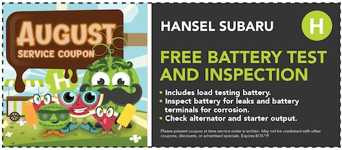Free Battery Test and Inspection