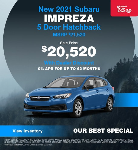 New 2021 Subaru Impreza 5 Door Hatchback