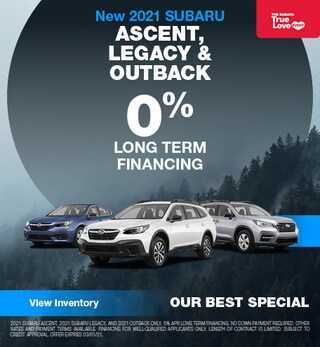 New 2021 SUBARU ASCENT, LEGACY & OUTBACK
