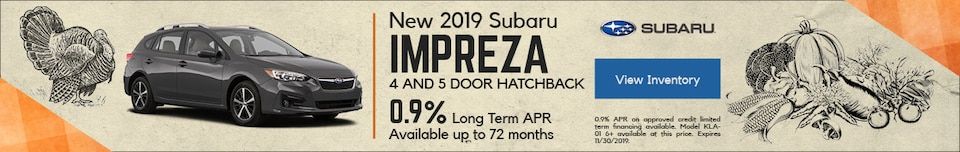 New 2019 Subaru Impreza 4 and 5 Door Hatchback