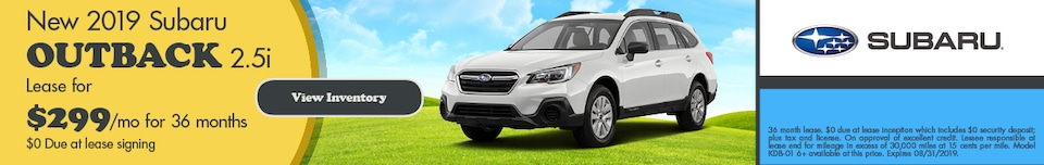 August 2019 Outback Lease Special