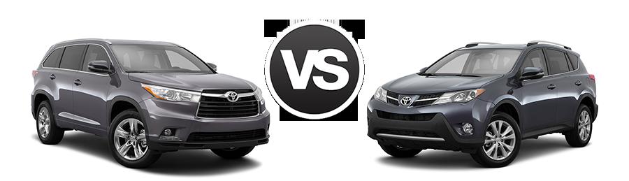 2017 Toyota Highlander Vs Rav4