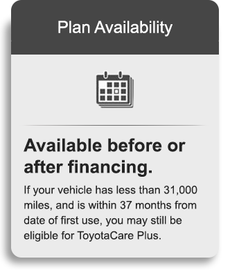 Exceptional ToyotaCare Plus