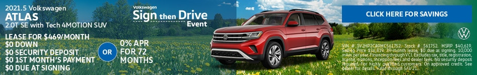 2021.5 Volkswagen Atlas 2.0T SE with Tech 4MOTION SUV