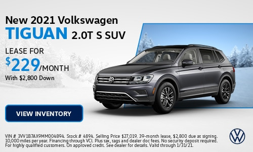 New 2021 Volkswagen Tiguan 2.0T S SUV